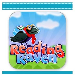 Reading Raven lean to read app iPad and iPhone.
